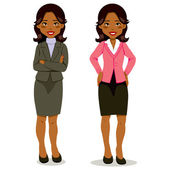 Black Executive Woman — Stock Vector