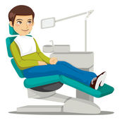 At the Dentist — Stock Vector