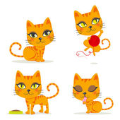 Orange Tabby Cat — Stock Vector