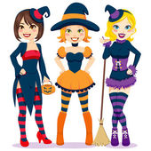 Halloween Women — Stock Vector