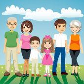 Extended Family — Stock Vector