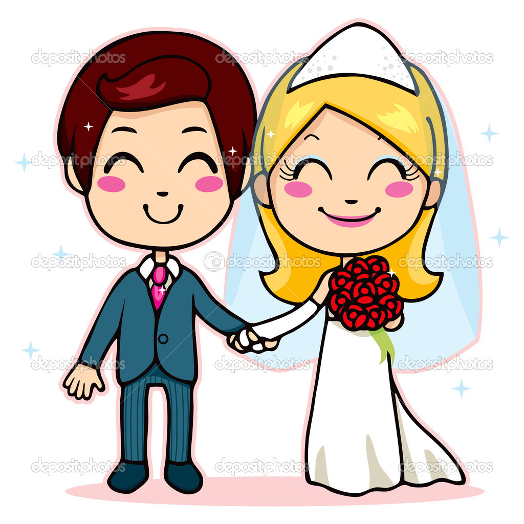 Married Couple Cartoon