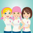 Fight Breast Cancer — Imagen vectorial