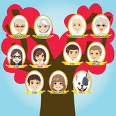Big Family tree — Stock Vector