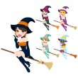 Royalty-Free Stock Vector Image: Beautiful Witch