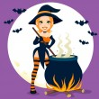 Sexy Witch Cauldron — Stock Vector #12269987