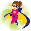 Superhero Woman — Stock Vector
