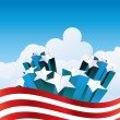 Vector de stock : Fourth of July
