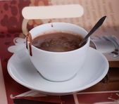 Cup hot chocolate — Stock Photo