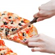 The pizza isolated - Stock Photo
