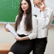 Two modern teacher — Stock Photo