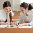 Two students make lessons — Stock Photo #11138733