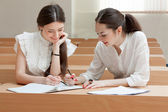 Two students make lessons — Stock Photo