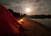 Acampando en el desierto — Foto de Stock