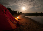 Camping in the wilderness — 图库照片