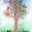 Royalty-Free Stock Photo: Water color tree