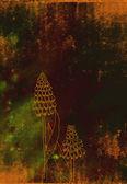 Vintage autumn framed background — Stock Photo