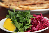 Meat Pie and Salad — Stock Photo