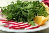 Parsley and radish — Stock Photo