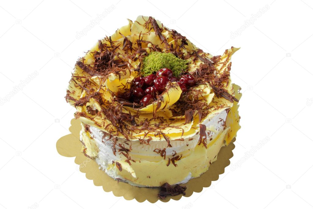 Delicious, pistachio, chocolate cake — Stock Photo #12048022