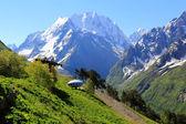 UFO in Caucasus mountains Dombai — Stock Photo