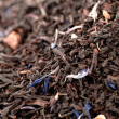 Lady Grey black loose tea leaves background, shallow dof — Stock Photo