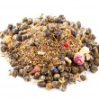 Jasmine pearls green tea with red and green rooibos blend, over - Stock Photo