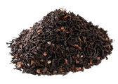 Coffee-like mate tea infused with chocolate, pile over white — Stock Photo