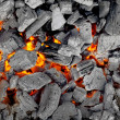 Stock Photo: Glowing charcoal for bbq, background