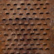 Natural aged old rusted grater background — Stock Photo