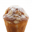 Stock Photo: Homemade unwrapped almond muffin