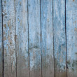 Old painted wooden fence, naturally weathered — Stock Photo