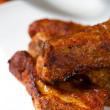 Delicious spicy barbecue ribs - Stock Photo