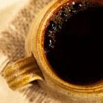 Black coffee in mug — Stock Photo #12348041