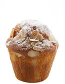 Homemade unwrapped almond muffin — Stock Photo