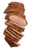 Smoked duck breast fillet, sliced — Stock Photo