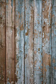 Aged painted wooden fence, naturally weathered — Stockfoto