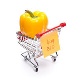 Acquistare prodotti bio — Foto Stock