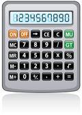 Vector gray calculator — Stock Vector