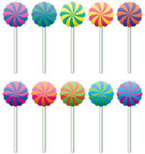 Vector colorful lollipops — Stock Vector