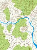 Carte topographique abstraite de vecteur — Vecteur