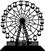 Vector ferris wheel — Stock Vector