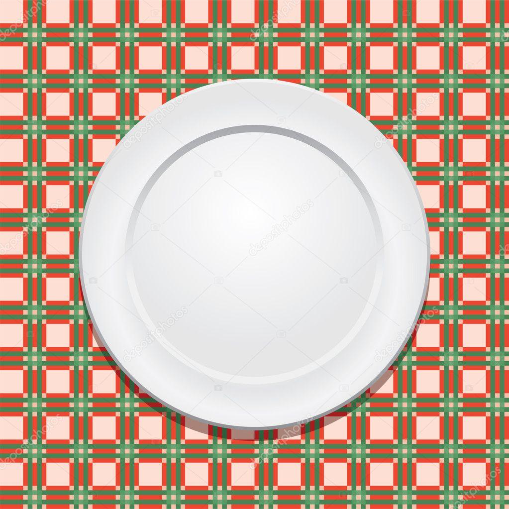 Vector mantel de picnic y plato vac o vector stock - Platos para picnic ...