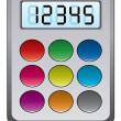 Vector colorful calculator — Stock Vector #11172085