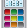 Vector colorful calculator — Stock Vector