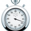 Vector silver stopwatch — Stock Vector