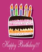 Vector birthday cake — Stock Vector