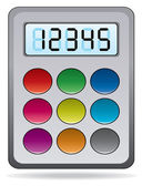 Vector colorful calculator — Stock Vector