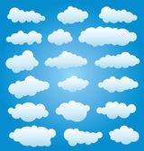 Jeu de nuages vectorielles — Vecteur