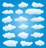 Vector set of clouds — Vector de stock